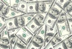 Долларовые банкноты американца 100 денег предпосылка usd Стоковое фото RF