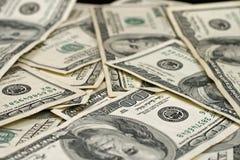 Долларовые банкноты американца 100 Стоковая Фотография RF