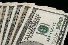 Долларовые банкноты американца 100 Стоковые Фото