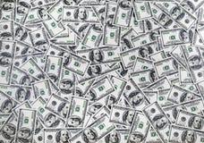 Долларовые банкноты американца 100 Стоковое фото RF