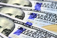 Долларовые банкноты валюты 100 США Стоковая Фотография RF