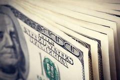 Долларовые банкноты денег 100 Стоковые Фотографии RF