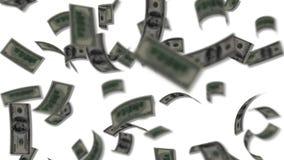 Долларовые банкноты падая как дождь иллюстрация штока