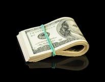 Долларовые банкноты свернутые вверх Стоковое Изображение RF