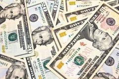Долларовые банкноты для предпосылки Стоковая Фотография