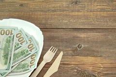 Долларовых банкнот США новые 100 на плите Стоковое Изображение