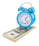 Доллары банкнот денег на белизне Стоковое Изображение RF