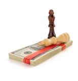 Доллары банкнот денег на белизне Стоковая Фотография RF