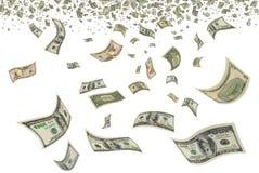 Доллары в воздухе. Стоковое Изображение RF