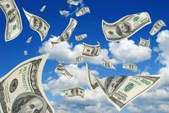 Доллары в небе. Стоковое Изображение