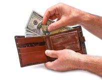 Доллары в портмоне Стоковые Фотографии RF