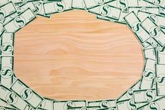 Доллары денег на предпосылке Стоковые Изображения