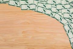 Доллары денег на предпосылке Стоковые Изображения RF