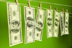 Доллары денег на chromakey Стоковые Изображения