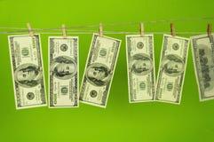 Доллары денег на chromakey Стоковая Фотография RF