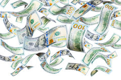 Доллары летания стоковые изображения