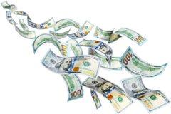 Доллары летания Стоковая Фотография RF