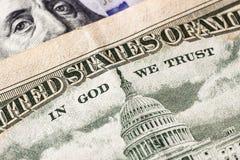 Доллары детали Стоковые Фотографии RF