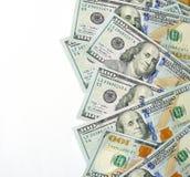 Доллары изолированной валюты, места для вашего текста Стоковое фото RF