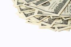 Доллары изолированные на белизне Стоковые Изображения