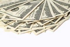 Доллары изолированные на белизне Стоковые Изображения RF