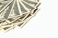 Доллары изолированные на белизне Стоковые Фото