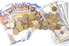 Доллары и шекели Стоковая Фотография RF