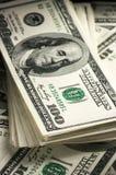 Доллары конца-вверх стога Стоковые Фото
