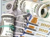 Доллары, предпосылка Стоковое фото RF