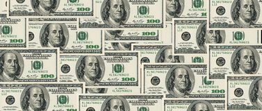 Доллары складывают как предпосылка Стоковая Фотография
