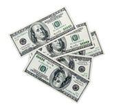 Доллары складывают как предпосылка Стоковое Фото
