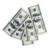 Доллары складывают как предпосылка Стоковые Фото