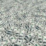 Доллары складывают как предпосылка Стоковые Фотографии RF