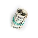 Доллары Соединенных Штатов, крен банкнот USD Стоковые Фото