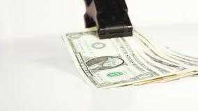 Доллары стога с зажимом сток-видео