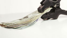 Доллары стога с зажимом видеоматериал