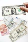 Доллары счета в наличии Стоковое Изображение