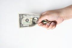 Доллары счета в наличии Стоковое Фото
