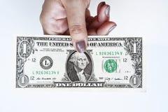 Доллары счета в наличии Стоковые Изображения RF