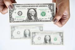 Доллары счета в наличии Стоковая Фотография RF