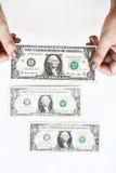 Доллары счета в наличии Стоковая Фотография