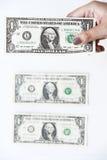 Доллары счета в наличии Стоковое Изображение RF