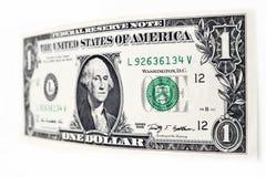 Доллары счета изолированного на белой предпосылке Стоковое Изображение