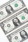 Доллары счета изолированного на белой предпосылке Стоковая Фотография RF
