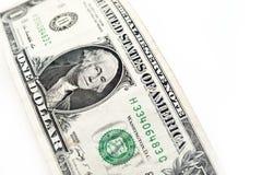 Доллары счета изолированного на белой предпосылке Стоковые Фото