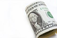 Доллары счета изолированного на белой предпосылке Стоковое Изображение RF
