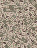 Доллары США, облигации министерства финансов владение домашнего ключа принципиальной схемы дела золотистое достигая небо к Стоковая Фотография