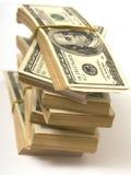 Доллары штабелируют перевязанную камедь Стоковое Изображение RF