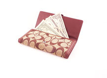 Доллар в бумажнике Стоковые Фотографии RF