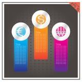 Доллар евро кнопки валюты выиграл предпосылку вектора черную Стоковое Изображение